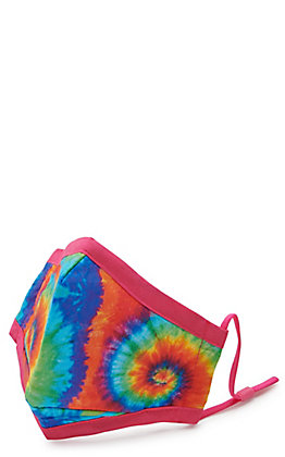 Kids' Bright Tie Dye Cloth Face Mask with Filter