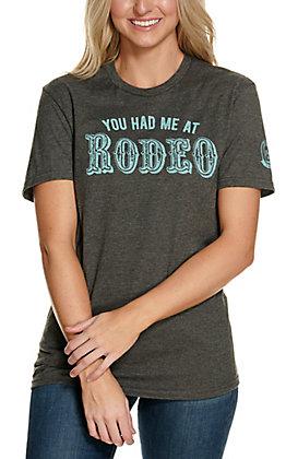 Mason Jar Women's Charcoal Grey You Had Me at Rodeo Short Sleeve T-Shirt