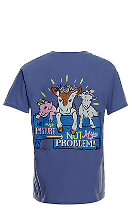 Girlie Girl Originals Girls' Violet Pasture Problem Short Sleeve T-Shirt
