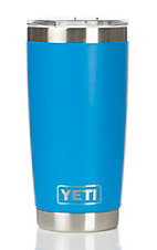 YETI 20oz Tahoe Blue Rambler Tumbler with Lid