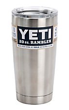 YETI 20oz Stainless Steel Rambler Tumbler with Lid