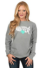 Texas Humor Women's Grey Ain't Texas Long Sleeve T-Shirt