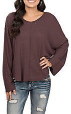 Vintage Havana Women's Plum Thermal Top